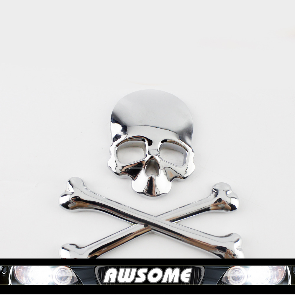 Car sticker maker philippines - 1x 3d Diy Car Decal Skull Bone Stickers Decal Emblem Maker For Car Auto Suv Body