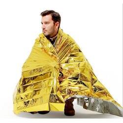 Аварийного Одеяло водонепроницаемые выживания Rescue Kit Фольга Термальность пространство оказание первой помощи Шторы военное одеяло
