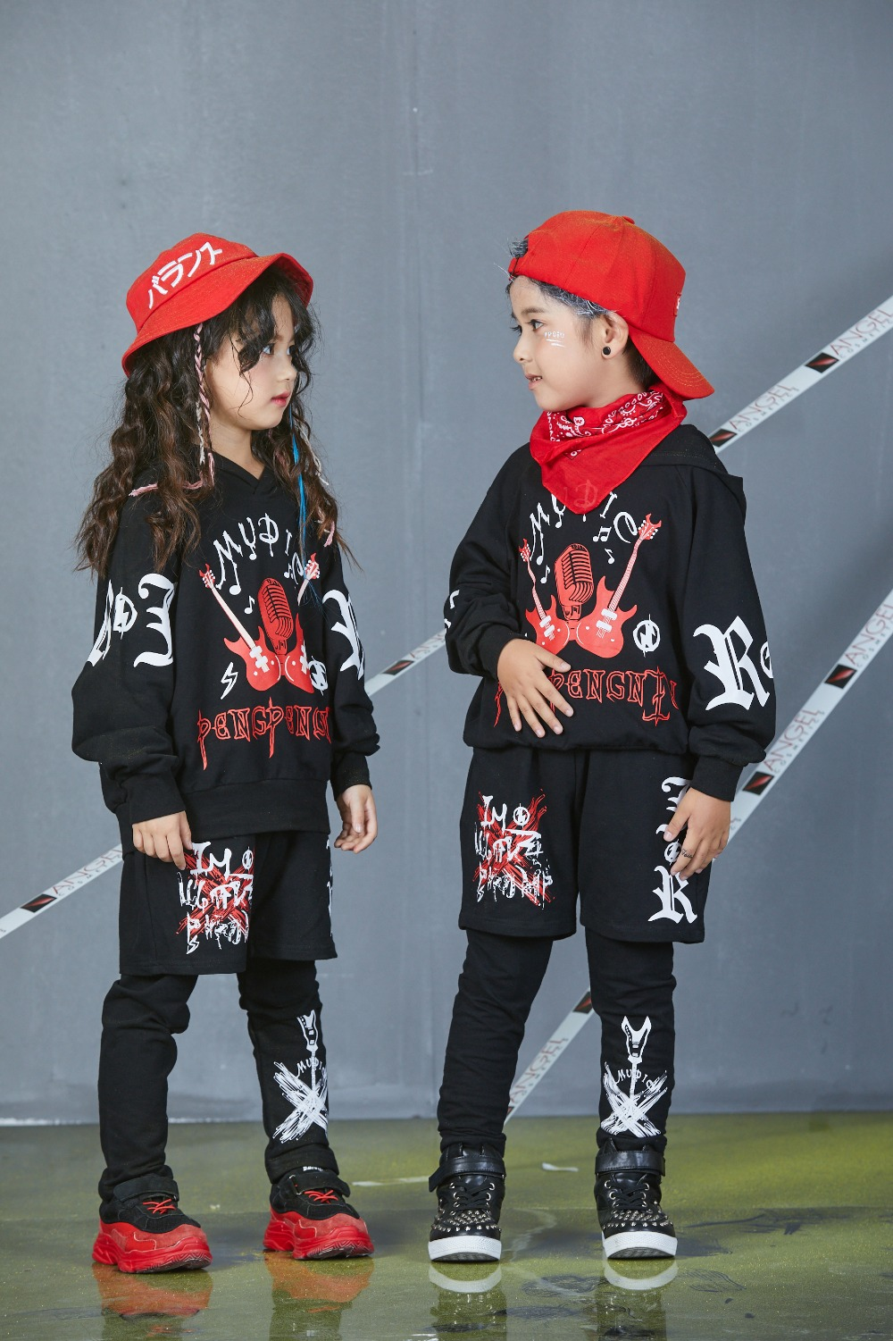 Autumn Spring Kids Street Dance Clothes Sets Fashion Hip Hop Clothing 2019 Brand High Quality Sport Suit for Teenage Boys Girl (20)