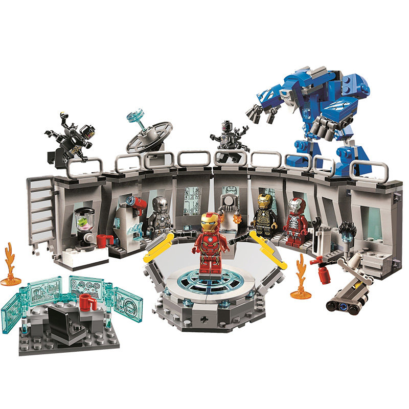 2019 New Super Heroes Avengers 4 Iron Man Hall of Armour Compatible Legoing Marvel 76125 Building Blocks Bricks Toys  Gifts2019 New Super Heroes Avengers 4 Iron Man Hall of Armour Compatible Legoing Marvel 76125 Building Blocks Bricks Toys  Gifts