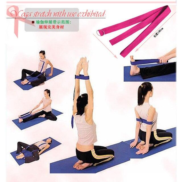 a6900ea512aaf € 135.68  Articles de remise en forme de promotion en gros chauds 100%  ceintures de Yoga de coton étirant la ceinture accessoires de Yoga de corde  ...