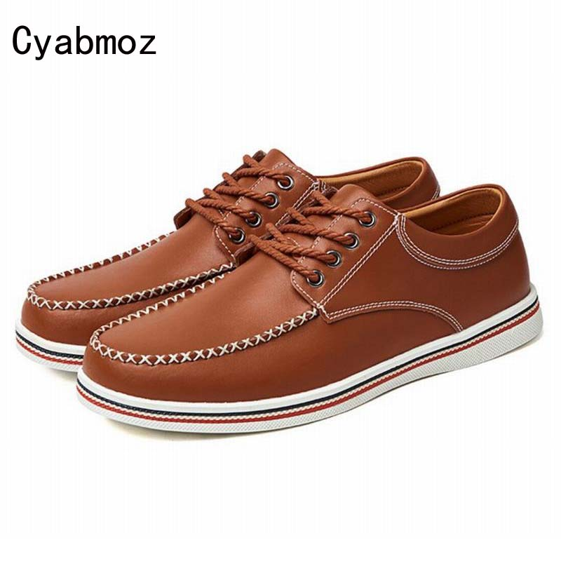 Brand Fashion New Arrival High Quality Men Oxfords Shoes Dress Shoes Business Men's Genuine Leather Casual Shoes Plus Size 38-47 slip on men casual shoes male sandal new fashion genuine leather low heel high quality brand korean style thick bottom plus size