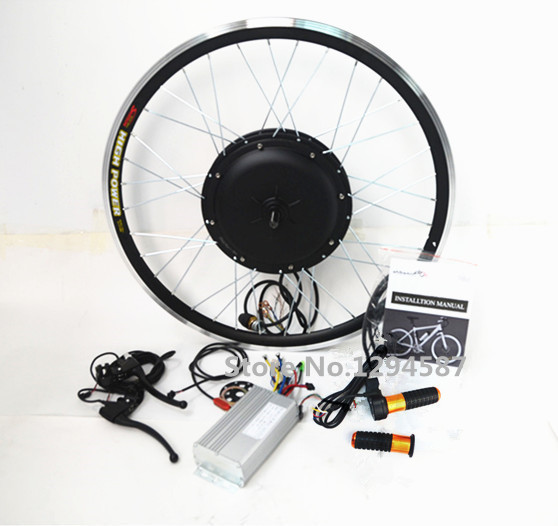 Cheap Free shipping ! Max speed 80km/h 2kw hub motor electric bike kit 2000w 72v with LCD display for ebike