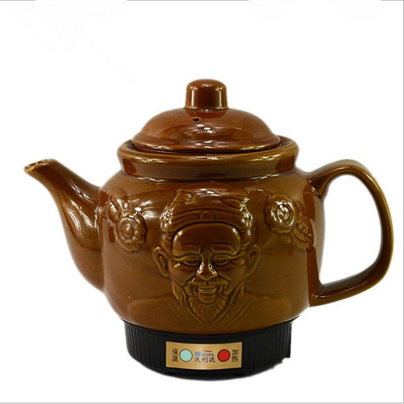 220V 3L Ceramic Automatic Electric Heating Kettle Health Preserving Pot Tea Pot Decocting Pot Traditional Chinese Medicine x32 3 5l automatic electric kettle ceramics boil herb pot porcelain health preserving pot easy to clean microcomputer control