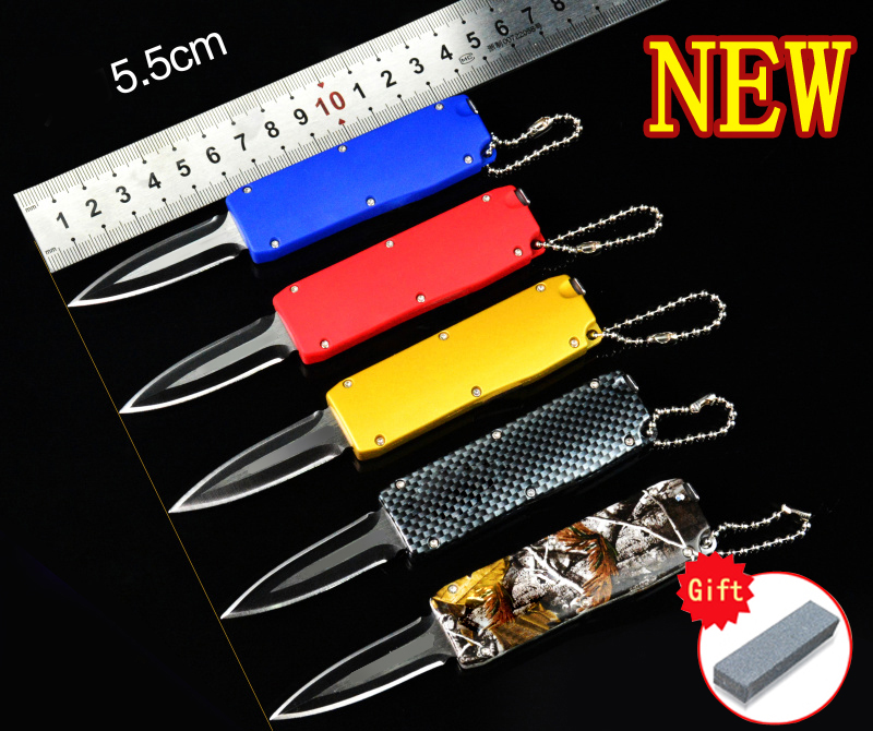 FBIQQ Más nuevo Recomienda mini cuchillo plegable 5 modelos Caza - Camping y senderismo