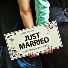 Costume!!! 2020 nova moda casamento decoração do carro decoração do quarto de casamento favores de casamento apenas casado placa de licença frete grátis