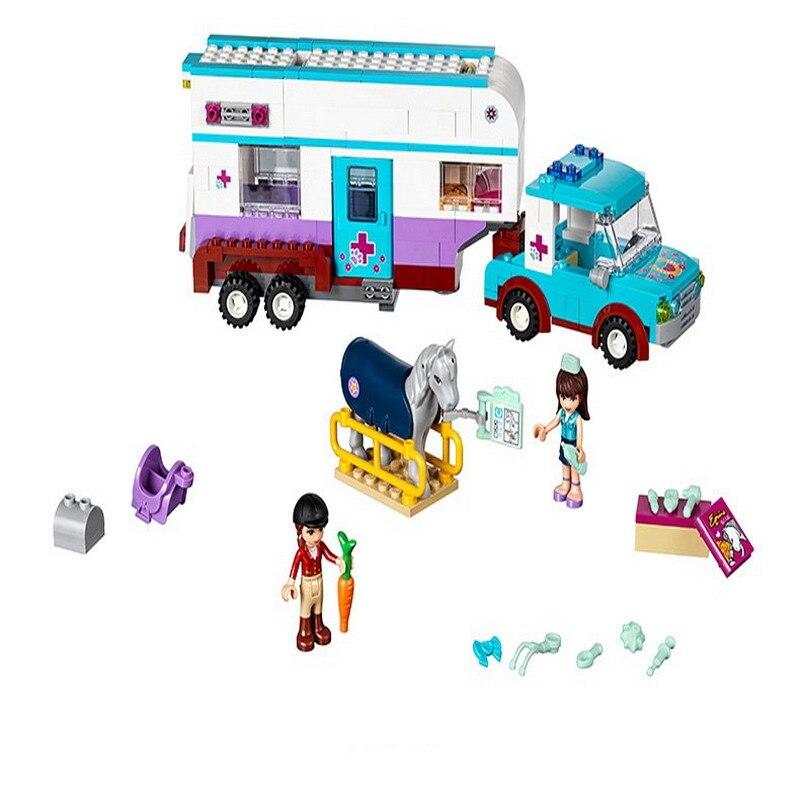 10561 Bela Friends Series Horse Vet Trailer Model Building Blocks