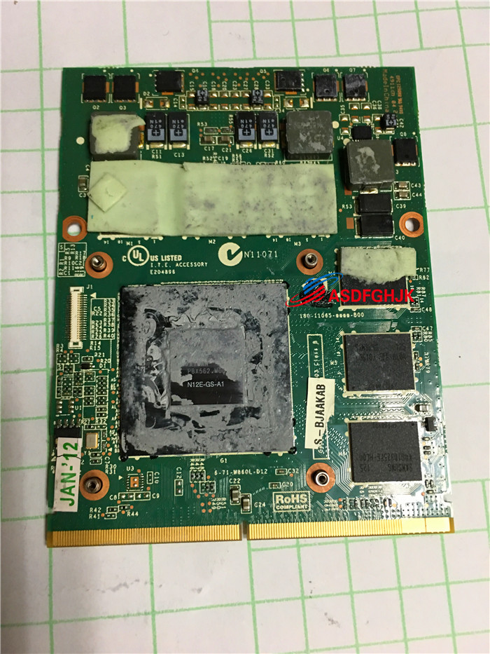 Original FOR CLEVO P150HM P170HM P150 P170 GRAPHICS VIDEO CARD 6-77-W860L-D12-K N12E-GS-A1 GTX560M Fully tested Original FOR CLEVO P150HM P170HM P150 P170 GRAPHICS VIDEO CARD 6-77-W860L-D12-K N12E-GS-A1 GTX560M Fully tested