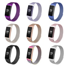 for Fitbit Charge 3 Stainless Steel Magnetic Milanese Band Replacement Wristband Strap for Fitbit Charge 3 Watchband Loop все цены