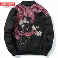 Aelfric Eden 2018 Spring High Street Phoenix Embroidery Jacket Coat Plus Size Casual Outwear Hip Hop Bomber Jackets XS XXXL LQ05