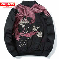 Aelfric Eden 2018 Spring High Street Phoenix Embroidery Jacket Coat Plus Size Casual Outwear Hip Hop Bomber Jackets XS XXXL LQ05