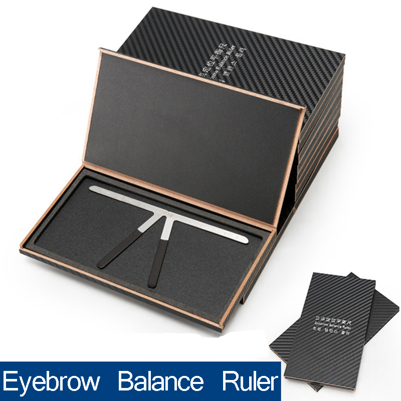 цена на wholesale 50pcs New Fashion Eyebrows Shaping Eyebrow Ruler Eye Brow Shaper Grooming Eyebrow Shaping Stencil Tools-With box