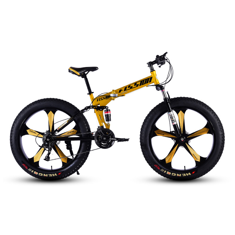 Mountain Bicycle 5 Knife Wheels 26 Inches 24 Speed Double Disc Brake High Carbon Steel Frame