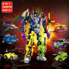 506Pcs Mecha Transformation Robot 6IN1 Model Building Blocks Sets Educational Toys For Children Compatible LegoINGs Bricks(China)