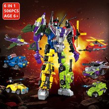 506Pcs Mecha Transformation Robot Toy Model Building Blocks Sets DIY LegoINGLs Technic Bricks Toys For Children Christmas Gifts