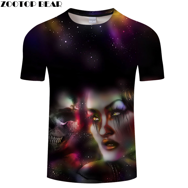 Skull 3D t shirt Men tshirt Summer T-Shirt Casual Tops Short Sleeve Tees Streetwear Beauty Camiseta Printed DropShip ZOOTOPBEAR
