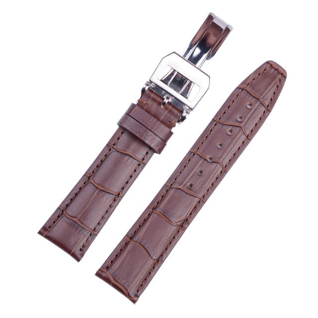 Couro genuíno Pulseira de Couro Especial Com Implantação Buckle Assista Bracelete 20mm 21mm 22mm Pulseiras de Relógio