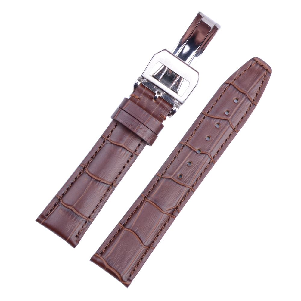 Genuine Leather Special Leather Watchband With Deployment Buckle Watch Strap 20mm 21mm 22mm Watchbands alligator leather watchband brand style straps bracelets wristwatches accessories with free buckle deployment 20mm 21mm 22mm new