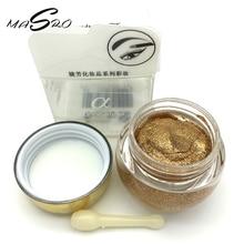 Masro Professional Eyes Makeup Glitter Single Color Eye Shadow Gel Party Cosmetics 16 Colors Optional Brand Love Alpha