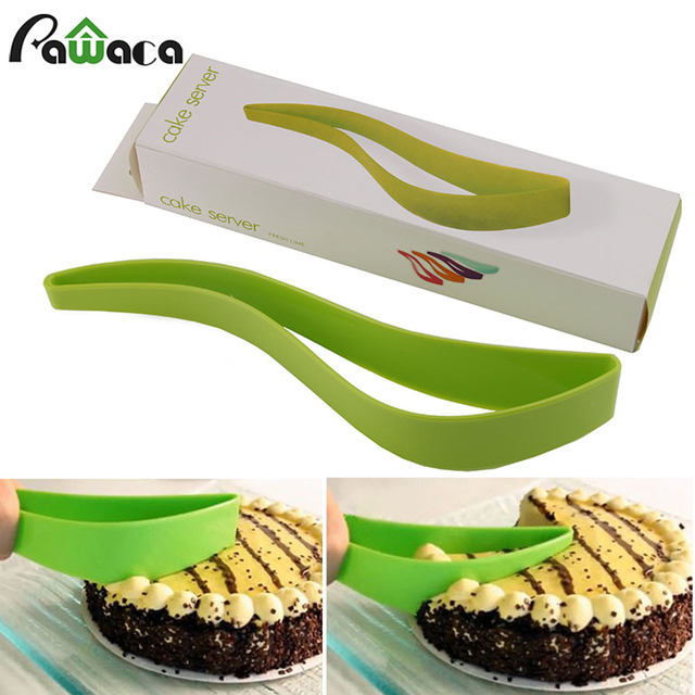 Kitchen Gadget Cake Cutter Slicer Server Pie Sheet Guide One Piece Wedding Bread