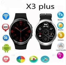 Perfekte Neue X3 Plus K9 Bluetooth Smart Uhr Android 5.1 MTK6580 Quad Core 1 GB + 8 GB Herzfrequenz Smartwatch Uhr Für iOS Android