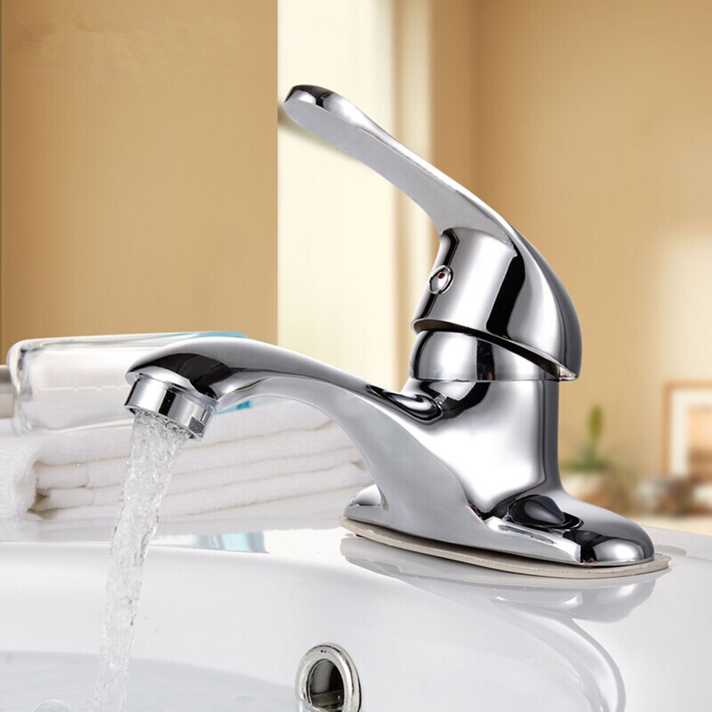 Moden and Fashion polish chrome swan bathroom faucet single handle ...