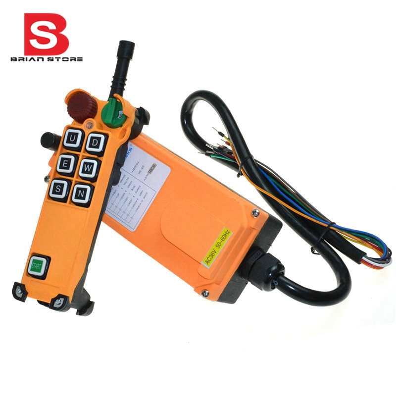 все цены на 12-24VDC 6 Channel 1 Speed 1 Transmitter Hoist Crane Truck Radio Remote Control System with E-Stop онлайн