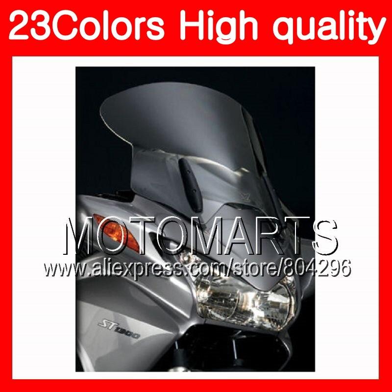 23Colors ветровое стекло для Honda ST1300 2002 2003 2004 2005 2006 2007 2008 2010 г 1300 STX1300 хром черный прозрачный дым лобовое стекло