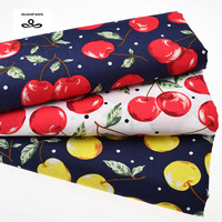 Printed Woven Plain Cotton Fabric Poplin For Patchwork Quilting Sewing Cherry Quilt Cloth Dress Shirt Skirt