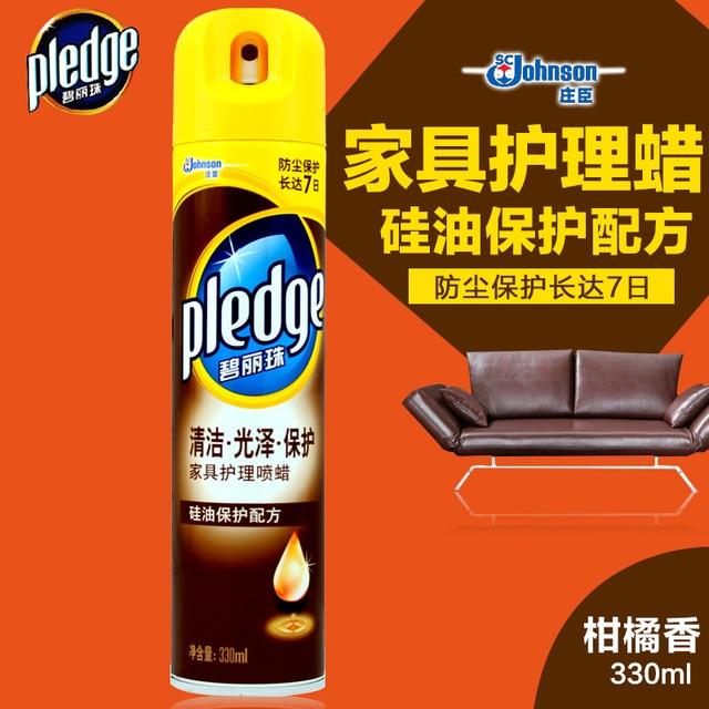 Johnson Pledge Furniture Care Spray Wax Citrus 330ml Wood Oil Agent