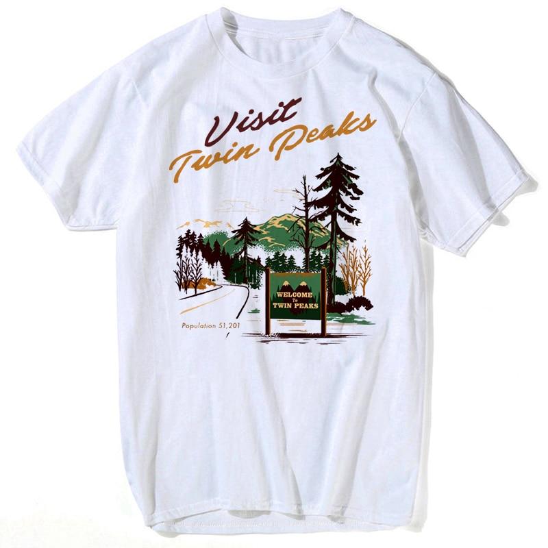 2018 New Fashion Brand Men Clothes t shirt Twin Peaks T-shirt Slim Fit T Shirt Men T-Shirt Casual S-3XL funny men t shirt