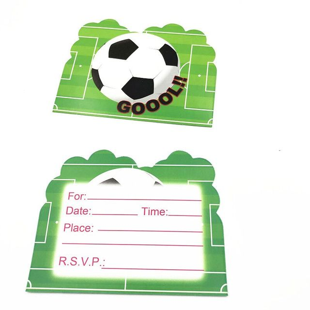 Green Football Theme 6pcs Thank You Card Theme Party Baby Shower