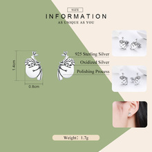 Sterling Silver Lovely Sloth Animal Stud Earrings for Women