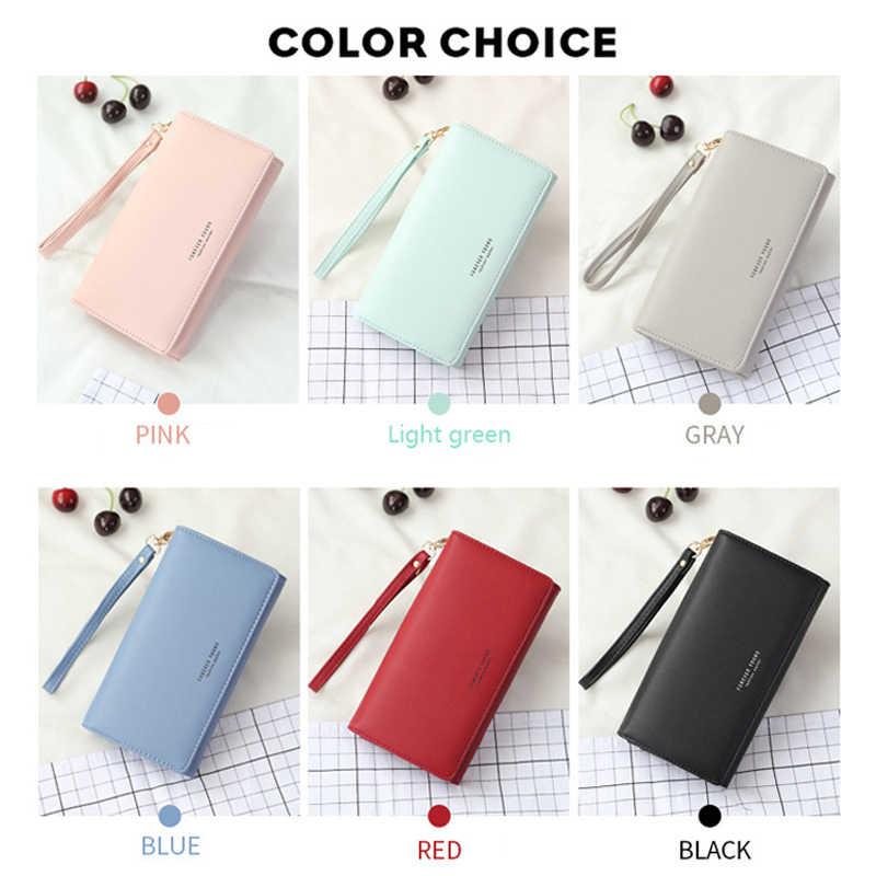 ファッション女性の財布薄型ジッパー女性の財布レディース Pu レザー財布女性財布 iphone サムスン Xiaomi LG fundas