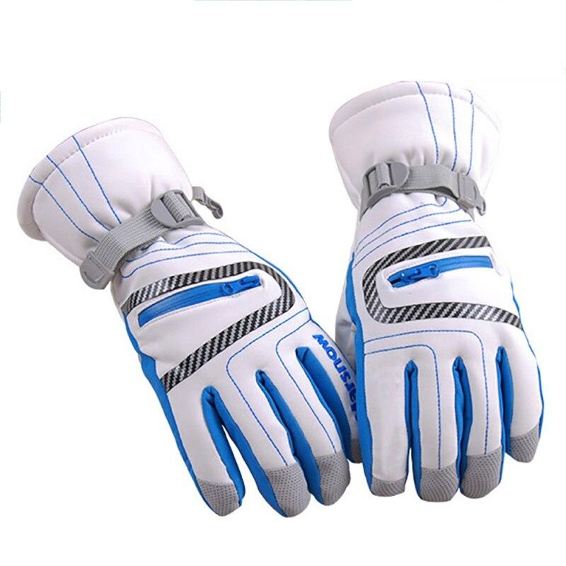 Водонепроницаемые профессиональные лыжные перчатки, ветрозащитные зимние теплые перчатки для мальчиков и девочек-подростков и взрослых, Д...