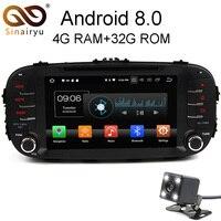 1024*600 4 Гб оперативная память Octa Core Android 8,0 автомобильный dvd радиоплеер Fit Kia Soul 2014 2015 2016 мультимедиа, ТВ gps навигации г сети