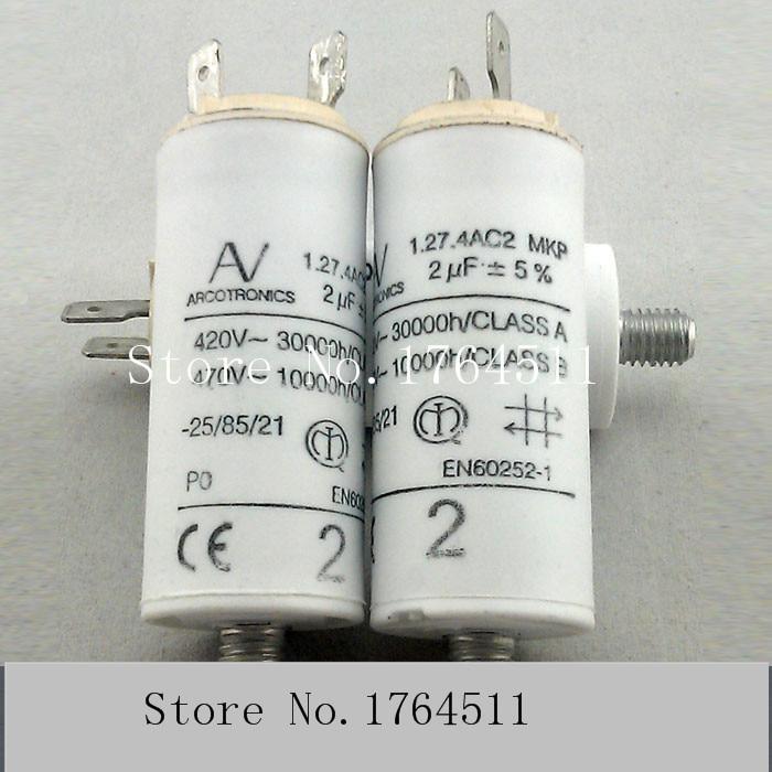 For 1pcs ARCOTRONICS AV 2uF 1.27.4ACF MKP 420V 470V Motor Start Capacitor