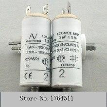 [BELLA] [New Original] Arcotronics 1.27.4AC2 MKP 2uf 5% motor start capacitors [bella] [new original] arcotronics av motor inverter start capacitor c87 8bf3 mkp 12uf 5% 500v