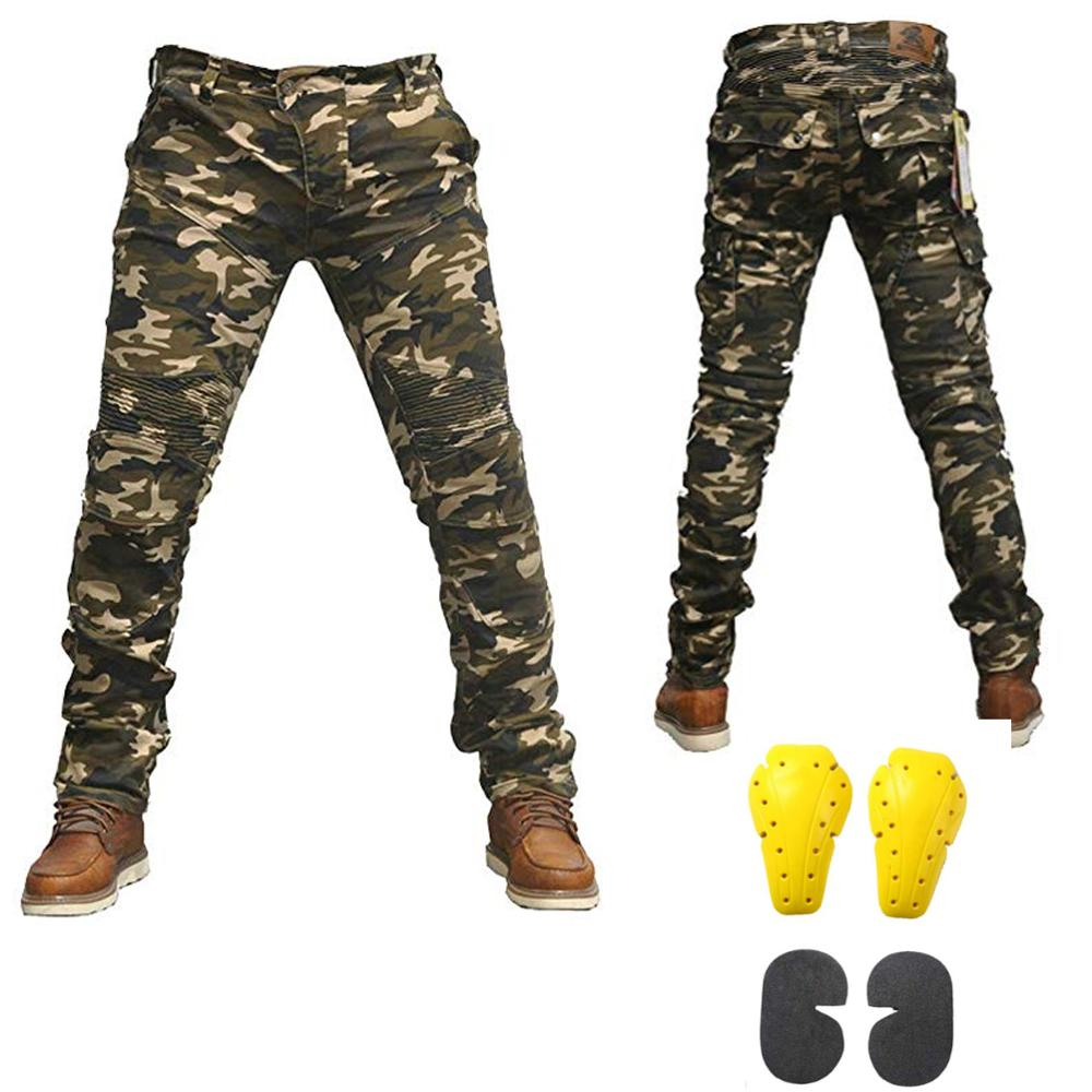 Camo Mens Motorcycle Riding Pants Denim Jeans with Removable CE Armor Knee Hip Pads Powersports Cargo Pants Protective PantsCamo Mens Motorcycle Riding Pants Denim Jeans with Removable CE Armor Knee Hip Pads Powersports Cargo Pants Protective Pants