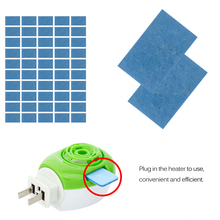 50 pcs/Set Blue Mosquito Repellent Tablet Replacement for Electric Mosquito Lamp Non Toxic Anti Mosquito Pest Repeller