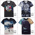 High quality youth fashion 3D trend casual style digital print short sleeve round neck boy T shirt 11-19 years old
