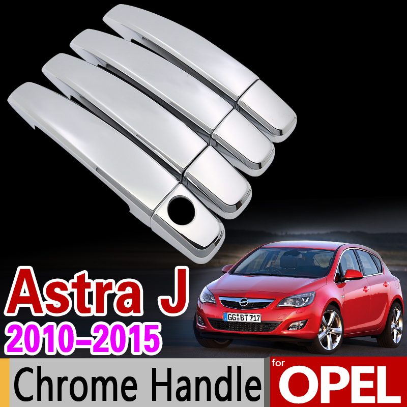for OPEL Astra J 2010-2015 Chrome Handle Cover Trim Set Vauxhall Holden OPC GTC VRX2012 2014 Car Accessories Sticker Car Styling for suzuki splash 2007 2014 chrome handle cover trim set of 4door 2008 2009 2010 2011 2012 2013 accessories sticker car styling