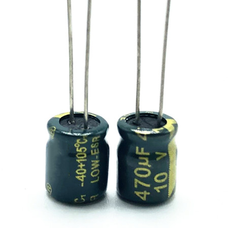 Q22 High Frequency Low Impedance 10v 470UF 6*7 Aluminum Electrolytic Capacitor 470uf 10v 20%