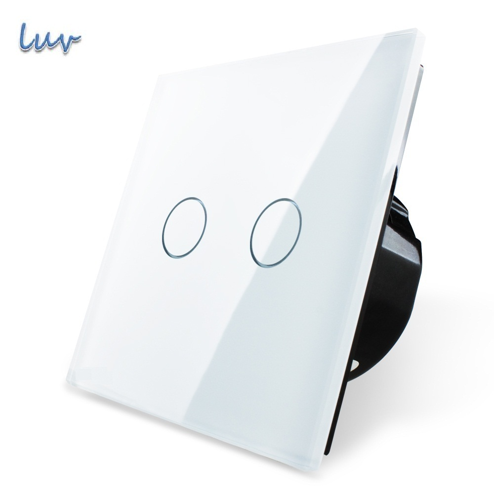 switch panel blanco crystal glass estndar de la ue interruptor de pared vl