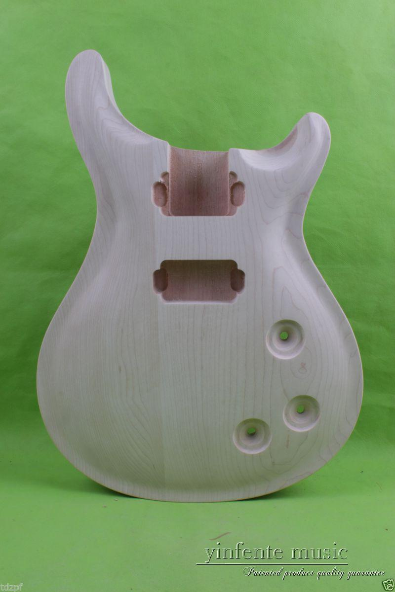 Solid Body DIY electric guitar Body Replace mahogany Maple Veneer Unfinished #849 new electric guitar body solid body diy mahogany flame maple veneer replace 860