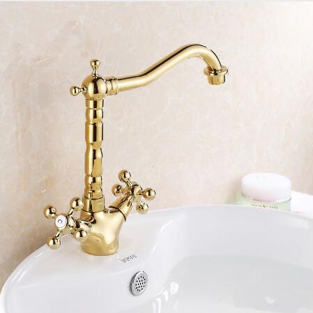 Free shipping New arrival Bathroom Basin Faucet Gold Plating Crane Brass Sink Mixer Tap torneiras para banheiro water tapFree shipping New arrival Bathroom Basin Faucet Gold Plating Crane Brass Sink Mixer Tap torneiras para banheiro water tap