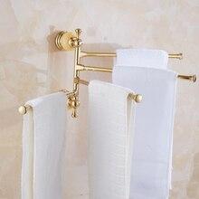 Вешалка для полотенец античный золотой кристалл вешалка для полотенец бар настенный керамический Серебряный держатель для полотенец аксессуары для ванной комнаты Zm100