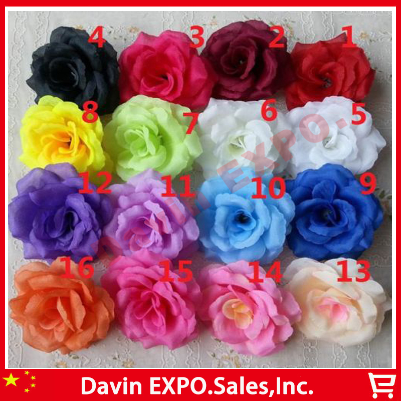 New 10 pcs rockabilly silk rose decorative flowers hair clip pin new 10 pcs rockabilly silk rose decorative flowers hair clip pin corsage brooch bridal wedding banquet decoration flower in artificial dried flowers from mightylinksfo