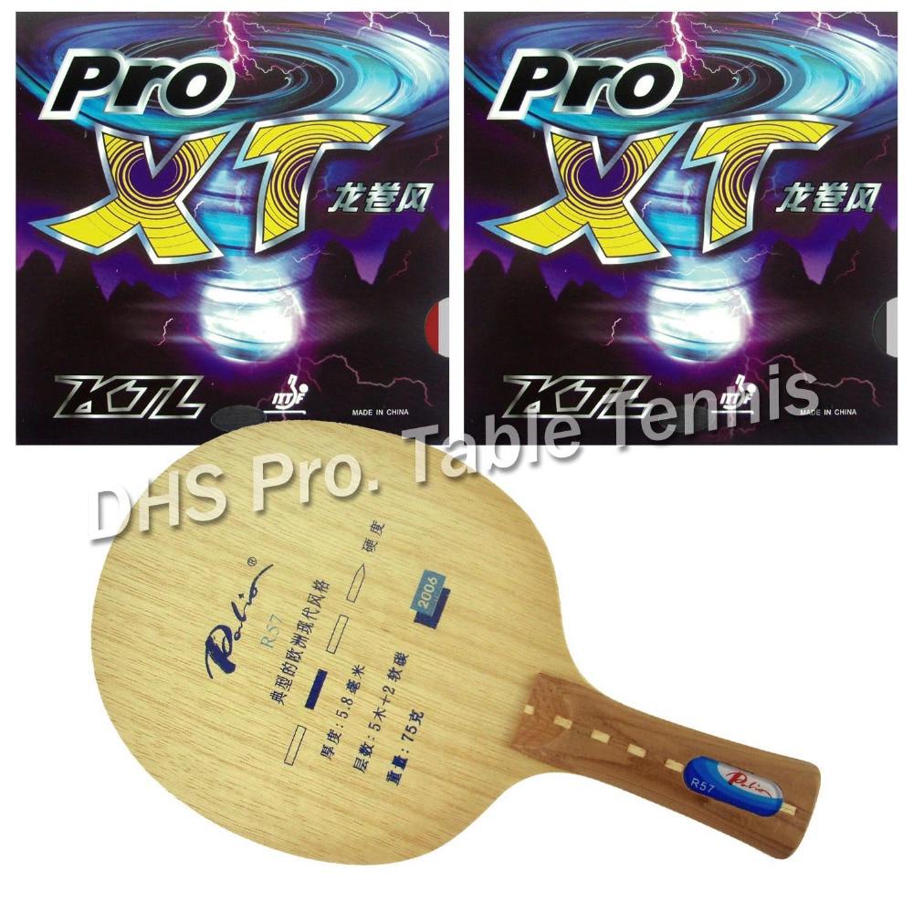 Raquette de ping-pong Pro Palio R57 lame avec des caoutchoucs 2x KTL Pro XT