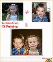 اللوحات الزيتية من الصور مخصصة صورك الأسرة الأصدقاء الطفل pet صور اللوحات الزيتية الصور المفضلة مخصص اليدوية